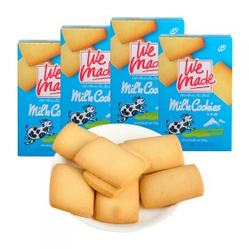 台湾进口零食饼干 77牌休闲零食牛乳乳酥饼干4件装