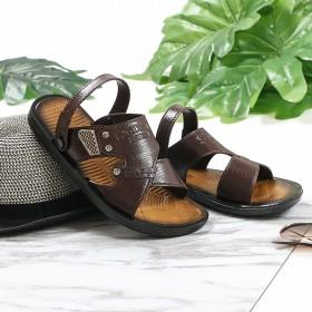 夏季凉鞋拖鞋两用男皮质沙滩鞋休闲鞋子