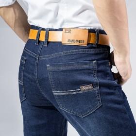 弹力牛仔裤男士青年直筒休闲夏季潮流薄款修身男裤子