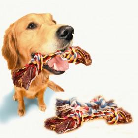 【大中小3件套】宠物狗狗玩具棉绳结磨牙猫狗拔河玩具
