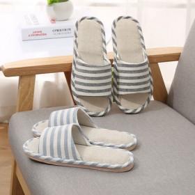 居家室内男女情侣新款棉麻凉拖鞋