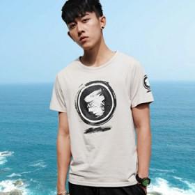 牛奶丝面料男生短袖t恤2017夏季韩版潮修身