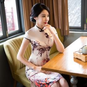 中长款少女显瘦日常改良中国风旗袍连衣裙