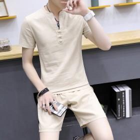 短袖T恤男夏季套装