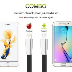充电器线二合一苹果安卓手机通用金属锌合金