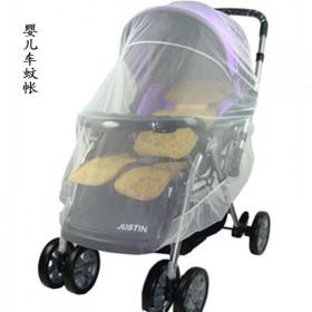 婴儿手推车防蚊通用加密蚊帐 超大全罩式婴儿车包帐篷
