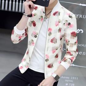 夏季新款防晒夹克男外套薄款上衣休闲青年帅气夏天外衣