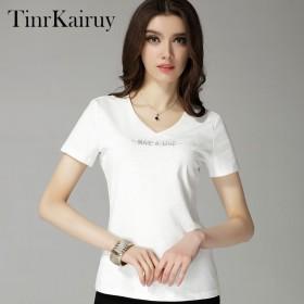 tinrkairuy2017新款白色T恤女短袖