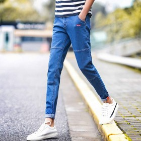男裤潮流韩版男九分弹力小脚裤学生裤