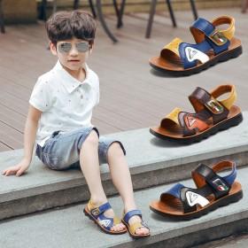 2017真皮儿童凉鞋男童男孩凉鞋男夏季儿童沙滩鞋潮
