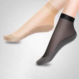 10双棉底丝袜中筒袜子女水晶防勾丝冰丝短袜女