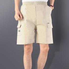 沙滩裤宽松男装夏季男中老年纯棉夏款短裤中老年休闲爸