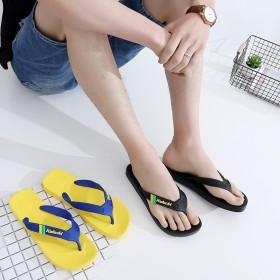 男士夏季休闲人字拖 木纹凉拖鞋防滑平跟夹脚凉鞋 沙