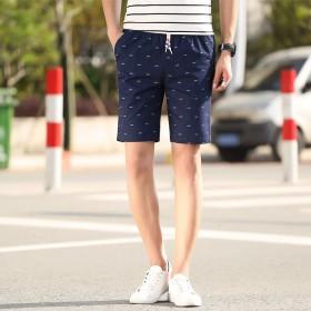 休闲男裤薄款夏季短裤男士运动5五分中裤子7七分大裤