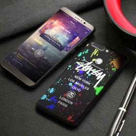 华为荣耀v9手机壳浮雕个性硅胶超薄磨砂男款潮防摔全
