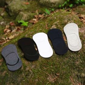 1双装男士硅胶防滑隐形袜  纯棉船袜 袜子男 夏季