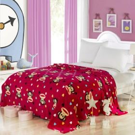 夏季珊瑚绒毯子空调毯薄法兰绒毯床单