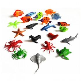 20个装仿真海洋动物模型玩具