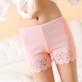 花边女防走光可外穿女士三分打底裤春夏薄款保险