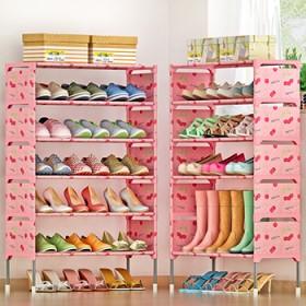 索尔诺简易多层鞋架 组装防尘鞋柜简约现代经济型鞋架