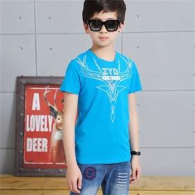 中大童男童夏装短袖T恤纯棉儿童韩版半袖新款潮童