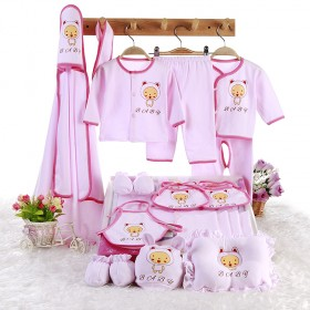 纯棉婴儿衣服礼盒套装