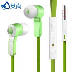 入耳式线控耳机带麦话筒耳塞麦克风重低音面条线