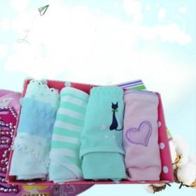 4条礼盒装纯棉少女内裤