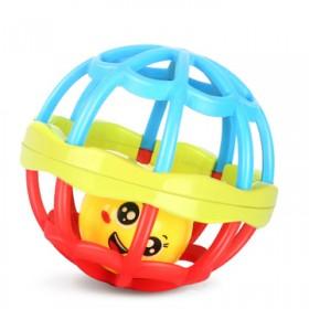 曼哈顿球手抓球牙胶婴幼儿童3-6-12个月宝宝软胶