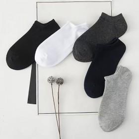 袜子男纯棉船袜新品短筒男袜短袜运动袜防臭棉袜男士袜
