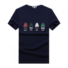 新款2017夏季短袖t恤男圆领纯棉个性潮透气打底衫