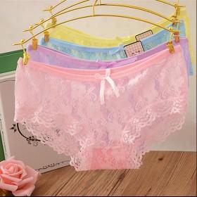 [1条装]镂空蕾丝边女士内裤
