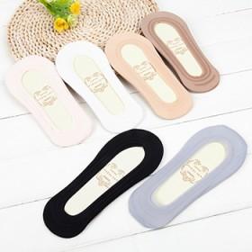 4双薄冰丝船袜防脱防滑无痕一圈硅胶隐形袜棉底