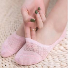 5双装袜子女士薄款短袜网眼镂空纯色透气纯棉隐形