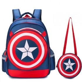 护脊减压小学生书包美国队长英雄梦(送文具27样)