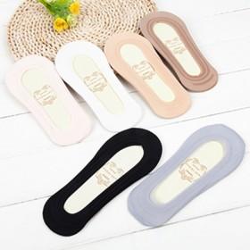 5双薄冰丝船袜防脱防滑无痕一圈硅胶隐形袜棉底
