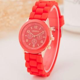 2017年新品爆款日内瓦三眼硅时尚流行硅胶手表