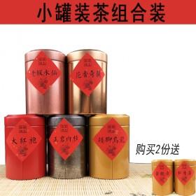 小罐装茶大师作17年新茶武夷岩茶大红袍正岩肉桂组合