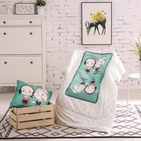 冰丝抱枕被子两用多功能夏凉空调被靠垫被