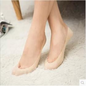5双夏季女士冰丝船袜女两圈硅胶浅口防滑袜隐形袜子
