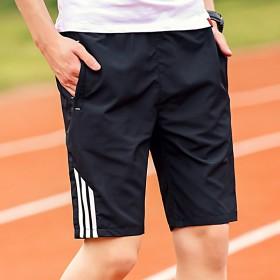 夏天速干短褲男運動五分褲跑步健身戶外夏日休閑褲5分