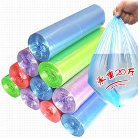 5卷装加厚垃圾袋新料彩色厨房卫生间家用办公塑料袋中