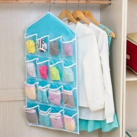 2个装 16格衣柜内裤袜子分类收纳袋