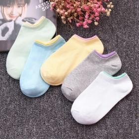 袜子女短袜船袜女隐形可爱韩国学院风浅口薄款夏季纯棉