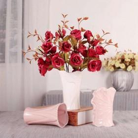 陶瓷创意白色花瓶水培插花欧式客厅小摆件