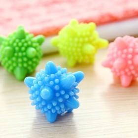 12个去污防缠绕洗衣球时尚清洁神奇硅胶彩色洗护球