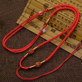 【5条】编织红绳吊坠