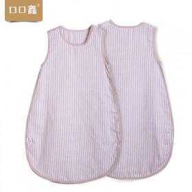 宝宝纯棉纱布睡袋儿童背心式睡衣天然彩棉婴儿防踢被