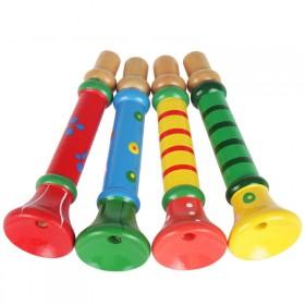 幼儿童木质小喇叭音乐器玩具 早教益智吹奏木哨子