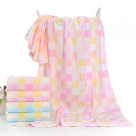 新生婴儿宝宝两层纱布浴巾2层纯棉夏季薄款童被盖毯柔